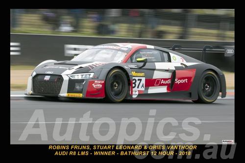 18016-1 - Robin Frijns, Stuart Leonard & Dries Vanthoor, Audi R8 LMS - Bathurst 12 Hour Winner 2018