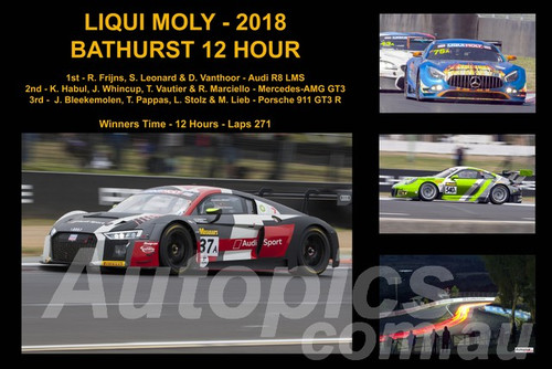 18401-1 - A Collage of the First Three Place Getters - Bathurst 12 Hour Winner 2018