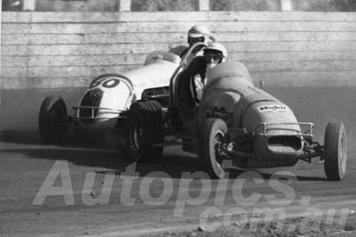 66107- Ray Oram & Peter Cuneen Westmead Speedway 1966