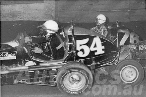 66111 - Lew Marshall #54 - #76 Bill Goode - Sydney Showground Speedway