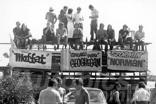 71546 - Moffat, Beechey & Geoghegan Fans 1971, I think Calder -  Photographer Peter D'Abbs