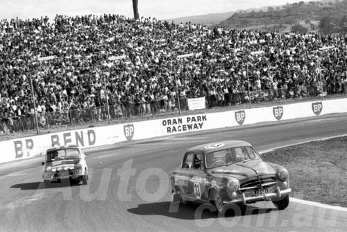 71548 -   Brian Amey, Peugeot 403B - Dulux Rally Oran Park 1971 - Photographer Lance Ruting