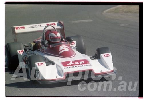 Larry Perkins, Chevron B39 - Oran Park  23rd August 1981 - Photographer Lance Ruting