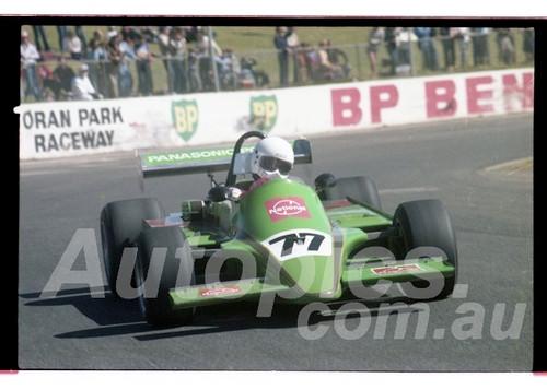 Peter Williamson, Galloway - Oran Park  23rd August 1981 - Photographer Lance Ruting