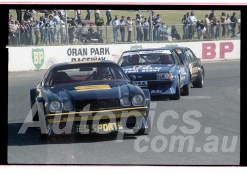 Kevin Bartlett / Bob Forbes, Camaro - Oran Park  23rd August 1981 - Photographer Lance Ruting