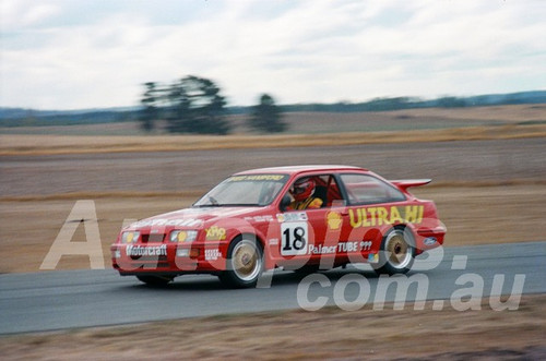 87125 - Gregg Hansford Ford Sierra -  Symmons Plains, 8th March 1987 - Photographer Keith Midgley