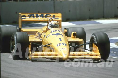88135 - Nelson Piquet, Lotus-Honda,  AGP Adelaide, 5th November 1988 - Photographer Darren House