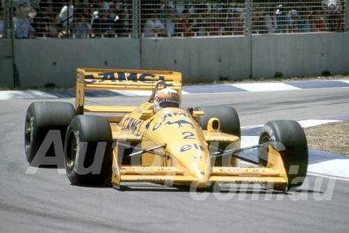 88136 - Satoru Nakajima, Lotus-Ford,  AGP Adelaide, 5th November 1988 - Photographer Darren House