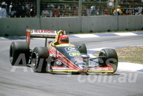 88137 - Pierre-Henri Raphanel, Lotus Ford,  AGP Adelaide, 5th November 1988 - Photographer Darren House