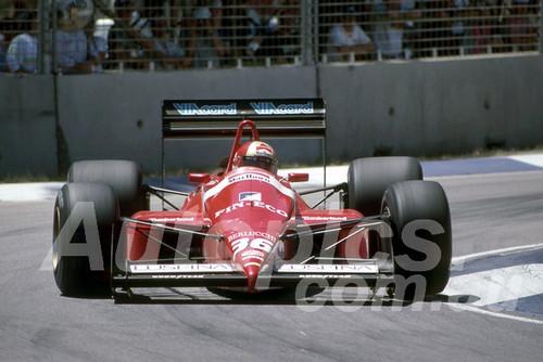 88138 - Alex Caffi, Dallara-Ford,  AGP Adelaide, 5th November 1988 - Photographer Darren House