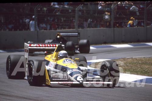 88139 - Riccardo Patrese, Williams-Judd,  AGP Adelaide, 5th November 1988 - Photographer Darren House