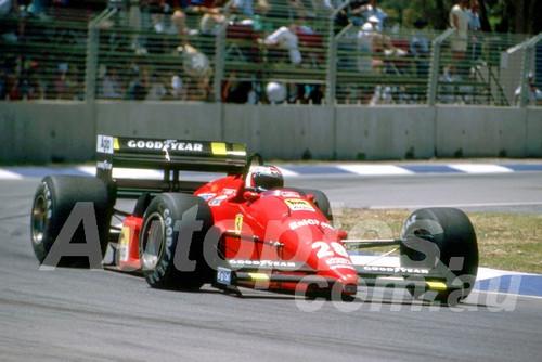 88143 - Gerhard Berger, Ferrari,  AGP Adelaide, 5th November 1988 - Photographer Darren House