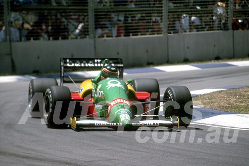 88144 - Thierry Boutsen, Benetton-Ford,  AGP Adelaide, 5th November 1988 - Photographer Darren House
