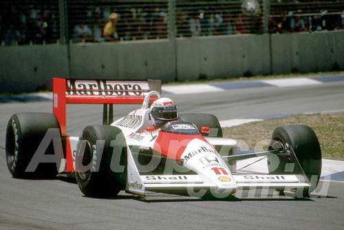 88145 - Alain Prost, McLaren-Honda,  AGP Adelaide, 5th November 1988 - Photographer Darren House