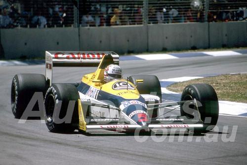 88146 - Nigel Mansell, Williams-Judd,  AGP Adelaide, 5th November 1988 - Photographer Darren House