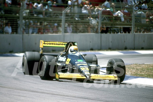 88147 - Pierluigi Martini, Minardi-Ford,  AGP Adelaide, 5th November 1988 - Photographer Darren House