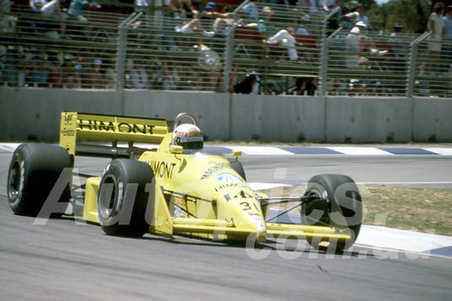 88148 - Gabriele Tarquini, Coloni-Ford,  AGP Adelaide, 5th November 1988 - Photographer Darren House