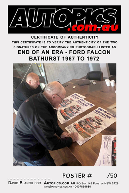 1200 - Ford Falcons at Bathurst 1967 to 1972 - Personally Signed Limited Edition