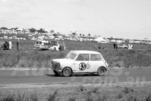 62754 - Tony Allen & David Hooker, Morris 850 - Phillip Island Armstrong 500 1962 - Photographer Peter D'Abbs