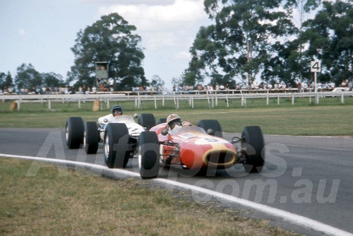 67147 - Spencer Martin Brabham & Leo Geoghegan Lotus 39 - Warwick Farm 19th February 1967 - Photographer Derek Hinde