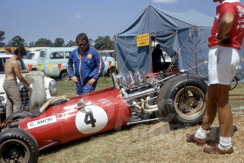 68261 - Chris Amon Ferrari - Warwick Farm 18th February 1968 - Photographer Lance Ruting