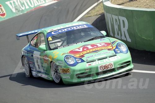 202800 - Peter Fitzgerald - Porsche 996 GT3 - Bathurst 13th October 2002 - Photographer Marshall Cass