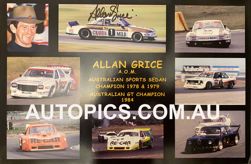 Allan Grice - Australian Sports Sedan 1978 & 1979, Australian GT Champion 1984-PERSONALLY SIGNED By Allan Grice