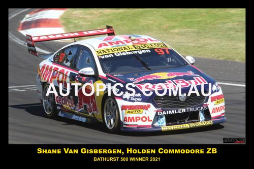 2021087-1 - Shane Van Gisbergen - Holden Commodore ZB,  Winner of the  Bathurst 500 - 2021