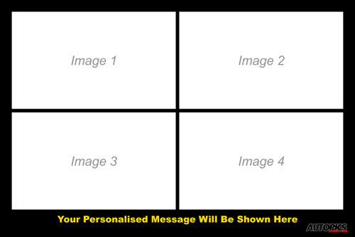 Personalised Poster Four, 12x18 inches (304x457mm), Five Images and a caption of your choice, landscape format.