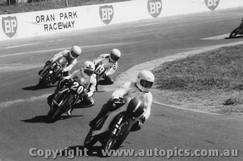 78301 - B. Smith Yamaha  L. Roebuck Waybry  D. Burgess Honda  T. OHara Honda - Australian 125cc Championship Oran Park 1978
