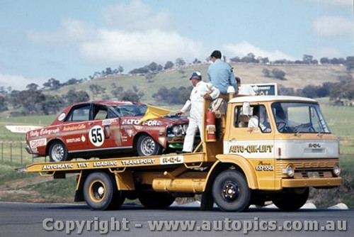 69741 - Brown / West  -  XW  Ford Falcon GTHO - Bathurst 1969