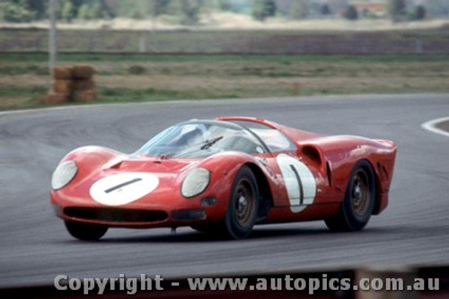 66428 - D. Piper / R. Attwood - 365 P2 Ferrari - Rothmans 12 Hour Sports Car Race - Surfers Paradise 1966  - Photographer John Stanley