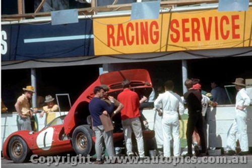 66429 - D. Piper / R. Attwood - 365 P2 Ferrari - Rothmans 12 Hour Sports Car Race - Surfers Paradise 1966  - Photographer John Stanley