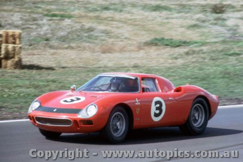 66430 - J. Stewart / A. Buchanan  Ferrari 250 LM - Rothmans 12 Hour Sports Car Race - Surfers Paradise 1966 - Photographer John Stanley
