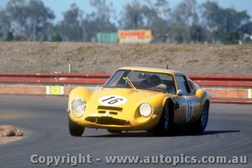 66436 - K. Bartlett / D. Chivas Alfa Romeo GTZ2  - Rothmans 12 Hour Sports Car Race - Surfers Paradise 1966 -  - Photographer John Stanley