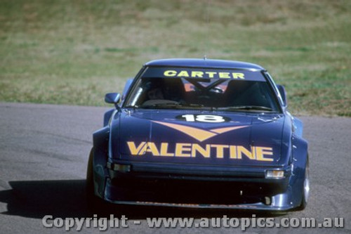 83004 - M. Carter / A. Moffat  Mazda RX7 - Sandown 1983