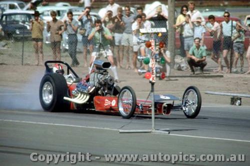 66913 - Ash Marshall  Hemi Chrysler AA/Fuel Dragster  The Vandal  - Surfers Paradise 1966  - Photographer John Stanley