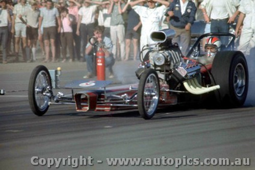 66914 -  Ash Marshall  Hemi Chrysler AA/Fuel Dragster  The Vandal  - Surfers Paradise 1966 - Photographer John Stanley
