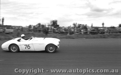 58422 - J. Cleary Austin Healey 100S -  Fishermen s Bend 18th Oct. 1958