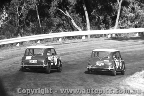 67744 - # 29 Makinen / French  # 30 Fall / Holden  Morris Cooper S  -  Bathurst 1967