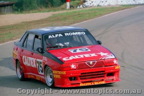 87021  -  C. Bond - Alfa Romeo 75 - Oran Park 30/8/1987