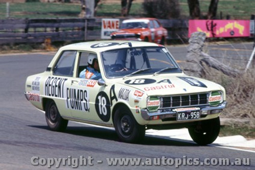 70766  -  A. Barrett / R. Withers  Mazda 1300 -   Bathurst  1970 - Photographer Jeff Nield