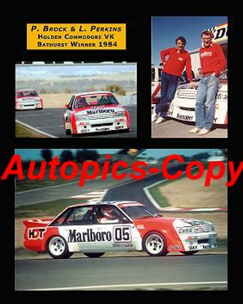 473  -  Brock / Perkins -  Bathurst Winners 1984 -  Holden Commodore VK  A collection of three photos. 16x20 inches  400x500mm