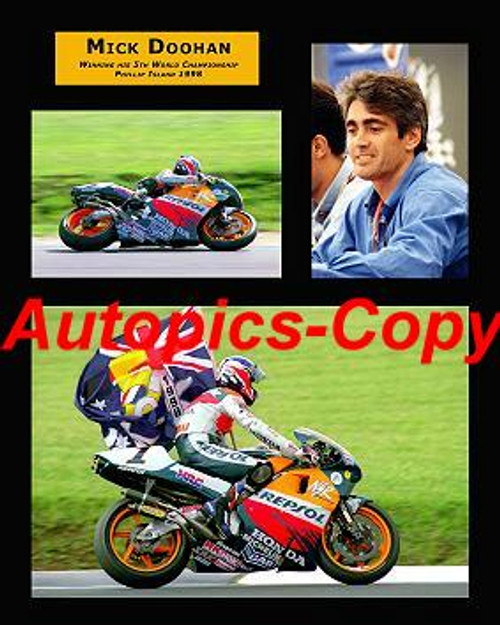 479 - Mick Doohan  -  A collection of three photos from Phillip Island 1998