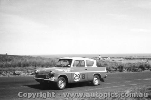 60743 - Wes Nalder & John Ampt  Ford Anglia   Armstrong 500 Phillip Island 1960