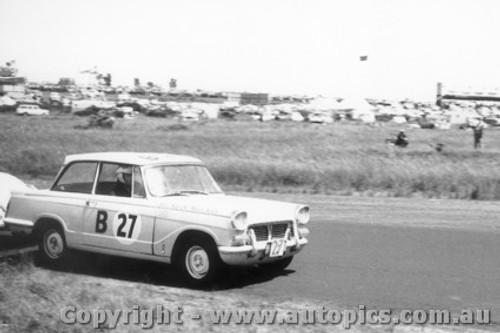 60744 - J. Maurer / E. Abbottr Triumph Herald  - Armstrong 500 Phillip Island 1960