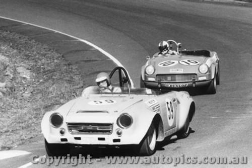 73428 - J. Morrow Datsun 2000 / B. Woods Triumph Spitfire - Amaroo Park 22nd July 1973
