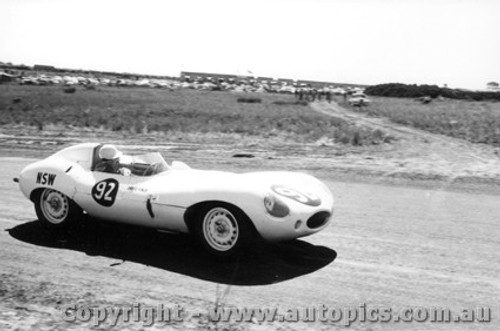 58435 - David Finch Jaguar D Type - Phillip Island  26th December  1958 - Photographer Peter D Abbs