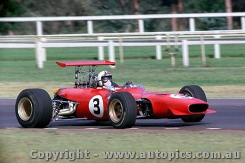 69550 - Chris Amon Ferrari Dino V6 - Tasman Series - Warwick Farm 19th February 1969 - Photographer Lance Ruting