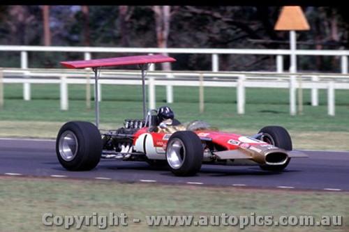 69551 - Graham Hill Lotus 49 - Tasman Series - Warwick Farm 19th February 1969 - Photographer Lance Ruting